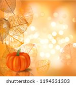 festive background with pumpkin ... | Shutterstock .eps vector #1194331303