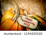 thanksgiving. pumpkin on... | Shutterstock . vector #1194335320