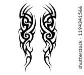 tribal pattern tattoo art ... | Shutterstock .eps vector #1194341566