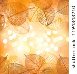 festive background with pumpkin ... | Shutterstock .eps vector #1194343210