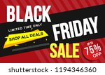 black friday sale banner layout ... | Shutterstock .eps vector #1194346360