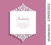 wedding invitation or save the...   Shutterstock .eps vector #1194351013