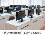 classroom computers. empty no... | Shutterstock . vector #1194352090