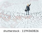 miniature people businessman... | Shutterstock . vector #1194360826