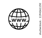 globe icon related to internet... | Shutterstock .eps vector #1194361150