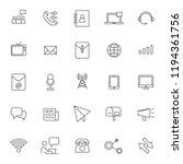 set of telecommunication... | Shutterstock .eps vector #1194361756