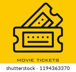 movie tickets icon signs | Shutterstock .eps vector #1194363370