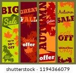 autumn sale banners set  great... | Shutterstock .eps vector #1194366079