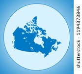 map of canada | Shutterstock .eps vector #1194373846