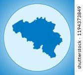 map of belgium | Shutterstock .eps vector #1194373849
