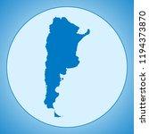 map of argentina | Shutterstock .eps vector #1194373870