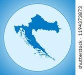 map of croatia | Shutterstock .eps vector #1194373873