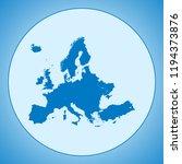 map of europe | Shutterstock .eps vector #1194373876