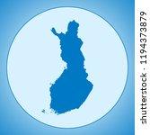 map of finland | Shutterstock .eps vector #1194373879