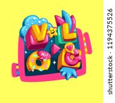 vlog vector print color... | Shutterstock .eps vector #1194375526