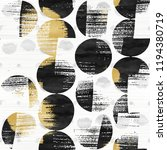 abstract distressed dots mixed... | Shutterstock . vector #1194380719
