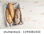 various homemade bread with... | Shutterstock . vector #1194381433