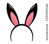 rabbit ears headband | Shutterstock .eps vector #1194393160