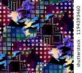 seamless pattern mixed design.... | Shutterstock . vector #1194393460