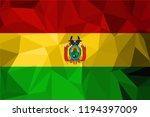 vector bolivia flag  bolivia... | Shutterstock .eps vector #1194397009