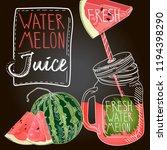 watermelon fresh juice | Shutterstock .eps vector #1194398290
