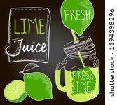 lime fresh juice | Shutterstock .eps vector #1194398296