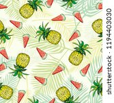 seamless pattern with... | Shutterstock . vector #1194403030