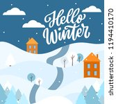 winter background with hand... | Shutterstock .eps vector #1194410170