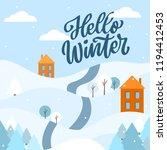 hello winter lettering phrase... | Shutterstock .eps vector #1194412453
