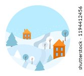 winter circle background... | Shutterstock .eps vector #1194412456