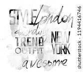 words outfit  trend  awesome ... | Shutterstock . vector #1194416746