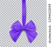 violet bow for packing gifts.... | Shutterstock .eps vector #1194422059