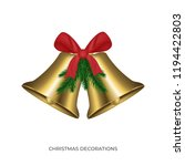 jingle bells. christmas golden... | Shutterstock .eps vector #1194422803