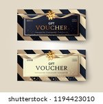 vector set of luxury gift... | Shutterstock .eps vector #1194423010