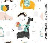 seamless childish pattern with... | Shutterstock .eps vector #1194423889