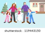 illustration of a family with a ... | Shutterstock .eps vector #119443150