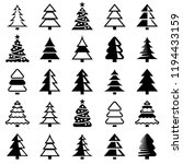 christmas tree icon collection  ... | Shutterstock .eps vector #1194433159
