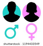vector male and female icon.... | Shutterstock .eps vector #1194433549