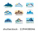 mountain valley with tress ... | Shutterstock .eps vector #1194438046