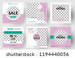 editable post template social... | Shutterstock .eps vector #1194440056