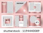 editable post template social... | Shutterstock .eps vector #1194440089