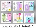 editable post template social... | Shutterstock .eps vector #1194440110