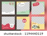 editable post template social... | Shutterstock .eps vector #1194440119