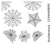 spider web set halloween design ... | Shutterstock .eps vector #1194440899