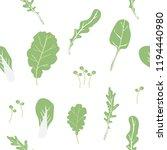 seamless pattern salad... | Shutterstock .eps vector #1194440980