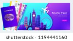 travel banner design with... | Shutterstock .eps vector #1194441160