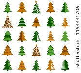 christmas tree icon collection  ... | Shutterstock .eps vector #1194441706
