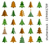 christmas tree icon collection  ... | Shutterstock .eps vector #1194441709