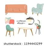 vector interior design...   Shutterstock .eps vector #1194443299