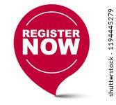 red vector banner register now | Shutterstock .eps vector #1194445279
